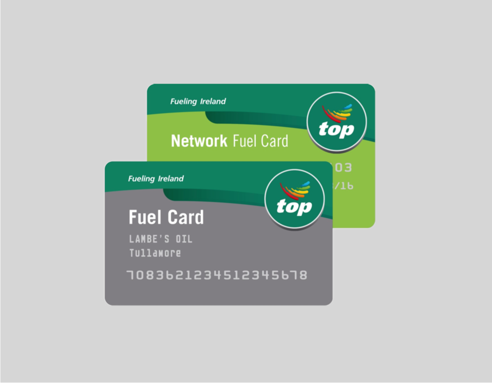 Two types of fuel cards available from Lambes Oil Tullamore
