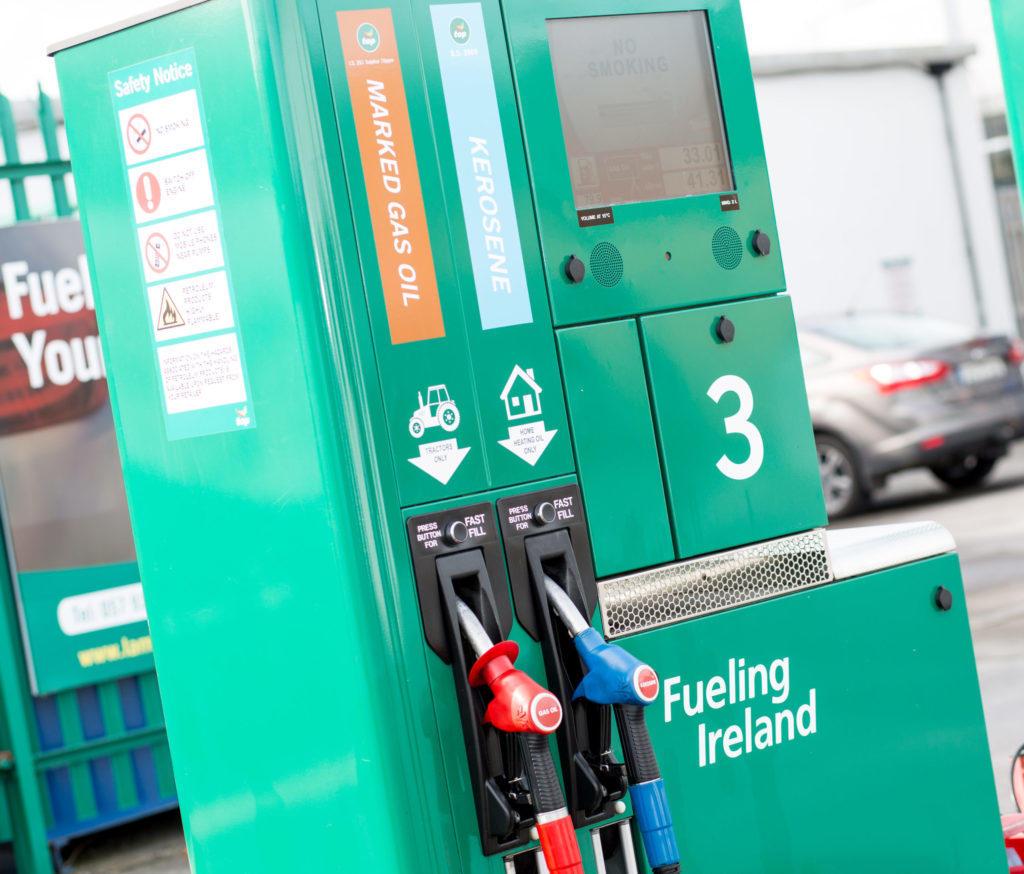 A petrol pump at Lambes Oil petrol station Tullamore