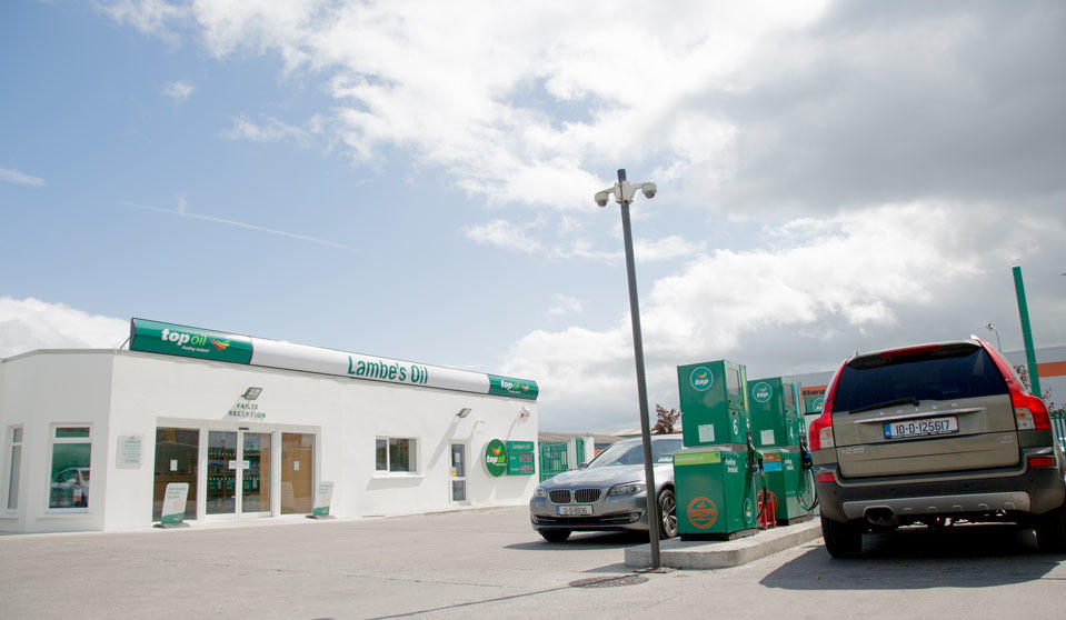 Lambes Oil forecourt in Tullamore County Offaly