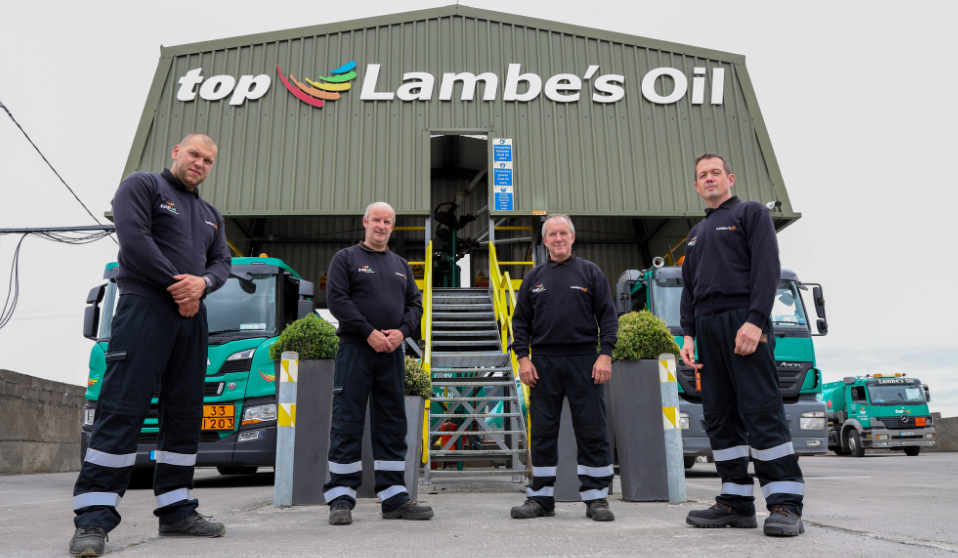 The Lambes Oil drivers getting ready to deliver home heating oil to customers.