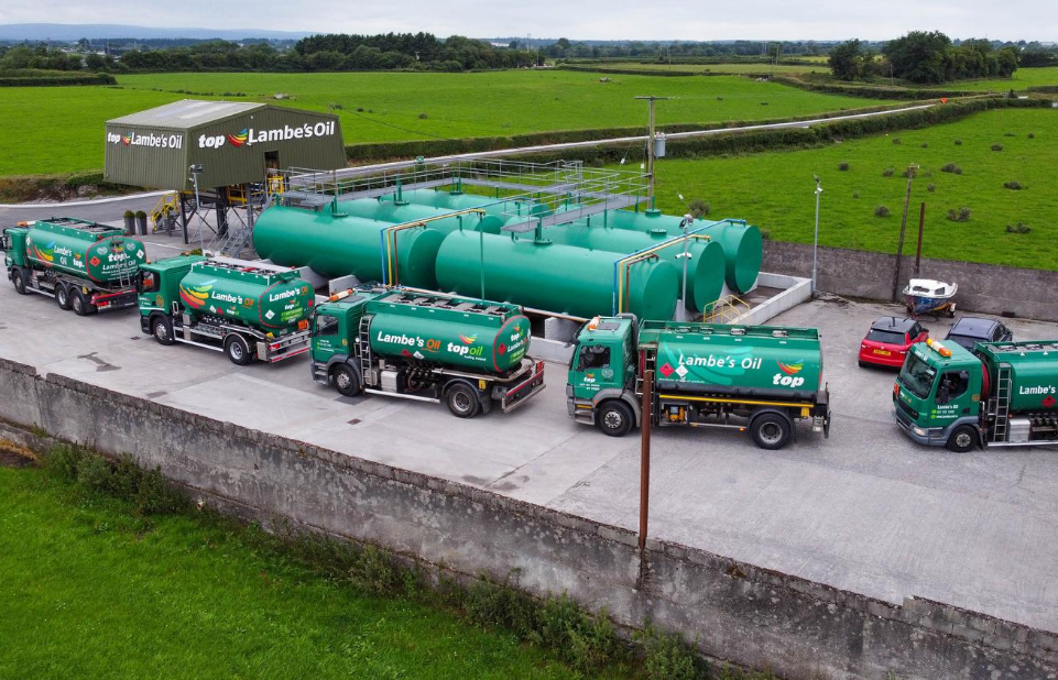 Lambes Oil trucks lining up at the Tullamore Depot