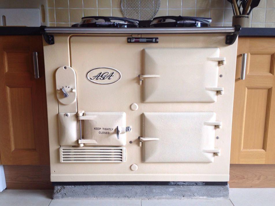 An Aga cooker running fuel from Lambes Oil