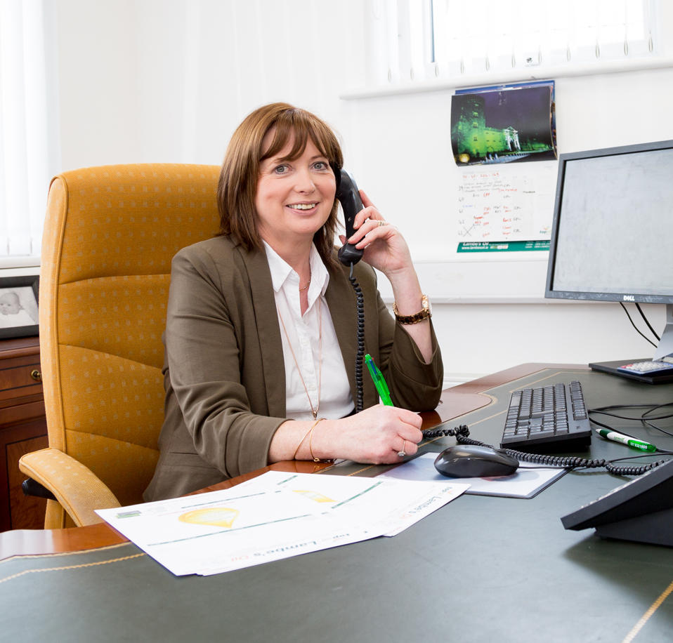 Fiona from the Lambes Oil team taking an Oil Order on the phone