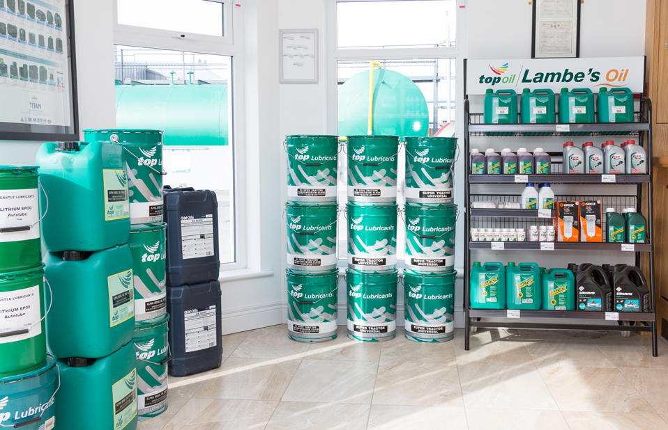 Stock of lubricants on view at Lambes Oil Tullamore